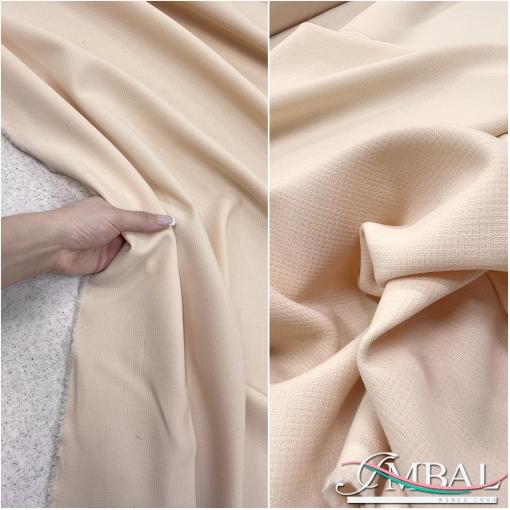 Ткань костюмная летняя стрейч светло-кофейного цвета