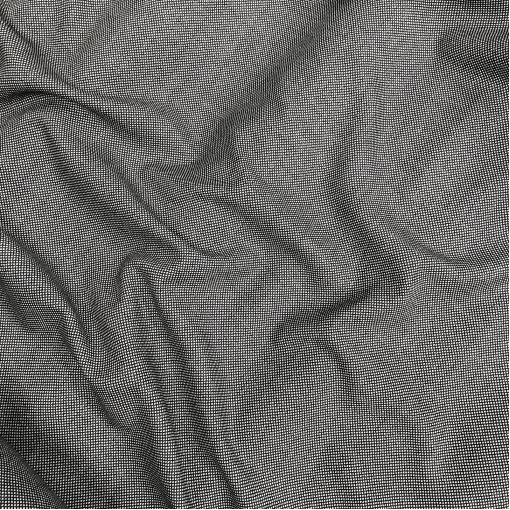 Твид костюмный шерстяной ромбики в серо-черных тонах