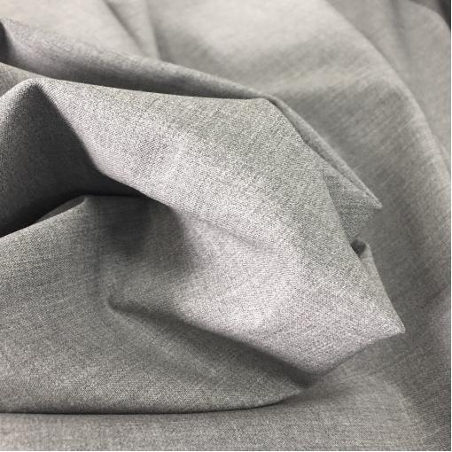 Ткань костюмная шерстяная тонкая стрейч средне-серый меланж