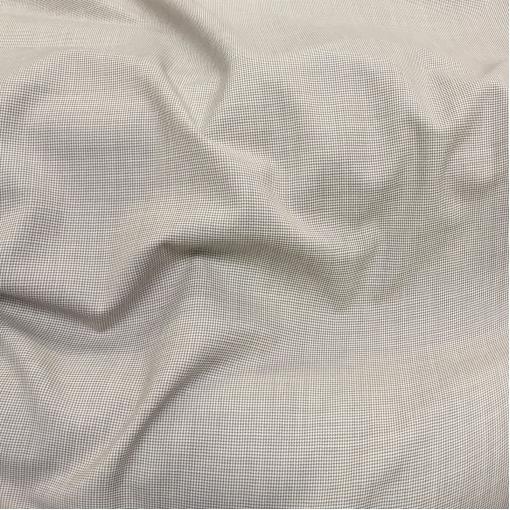 Ткань костюмная летняя принт мелкий бежево-песочный пье-де-пуль
