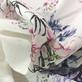 Лен тонкий принт Blumarine букеты на молочном фоне