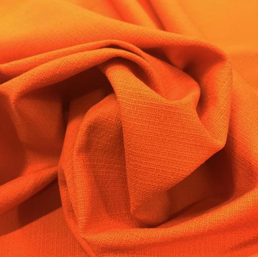 Лен жаккардовый стрейч мандаринового цвета