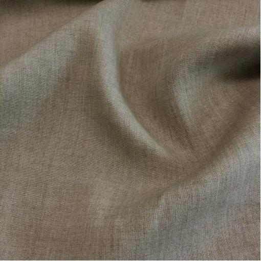 Лен костюмный натурального серо-бежевого цвета