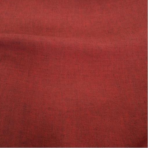 Лен костюмный хамелеон терракотово-коричневого цвета