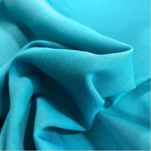 Лен костюмно-плательный ярко-голубого цвета с отливом