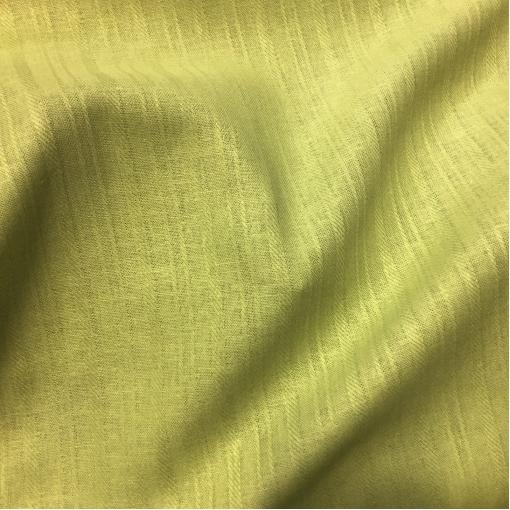 Лен тонкий костюмный с жаккардовой полосой салатного цвета