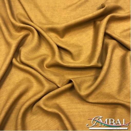 Лен костюмно-плательный мягкий горчичного цвета