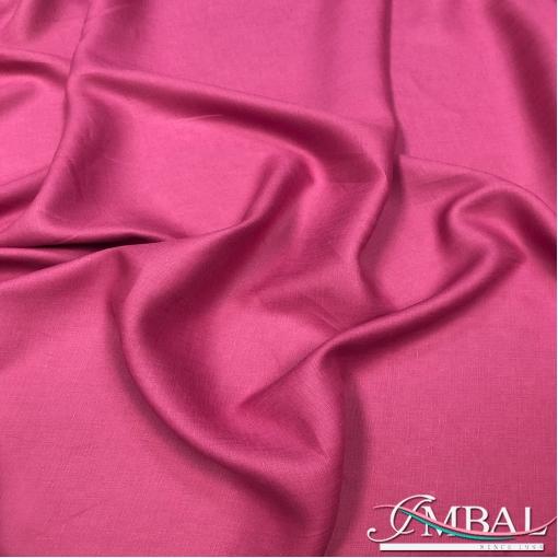 Лен костюмно-плательный мягкий цвета фуксии