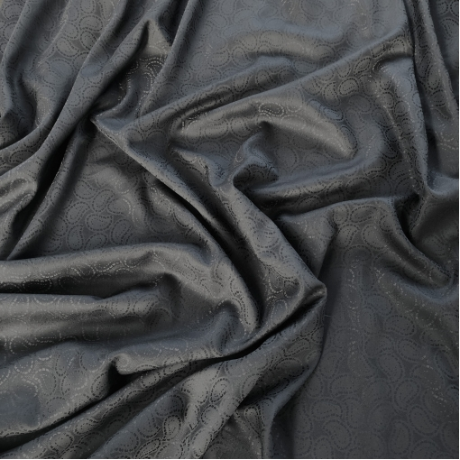 Муслин вискоза с шелком жаккардовый черно-синего цвета