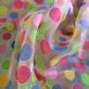 Органза принт Ferragamo цветные крупные горохи
