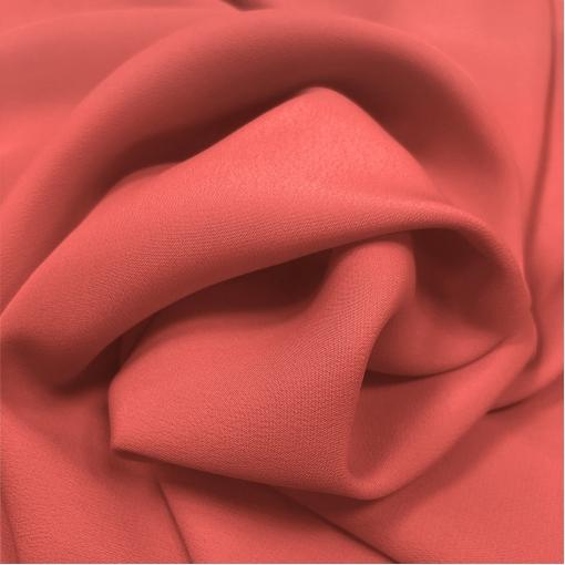 Шелк креповый смесовый цвета клубники со сливками