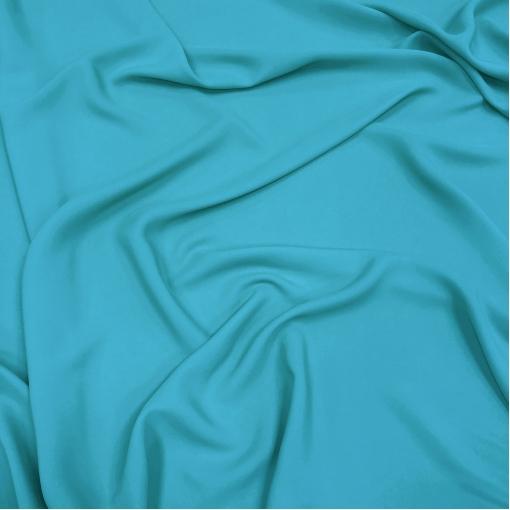 Шелк креповый смесовый цвета голубой бирюзы