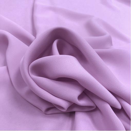 Шелк креповый смесовый разбеленого лилового цвета