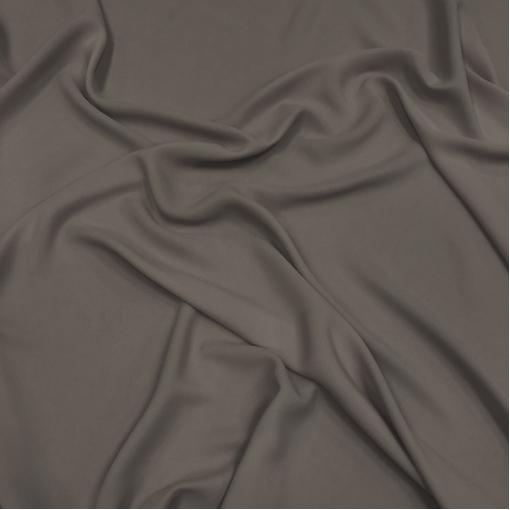 Шелк креповый смесовый теплого средне-серого цвета
