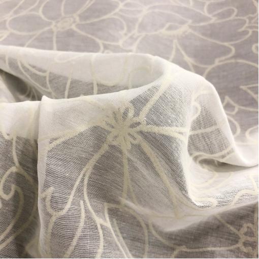 Муслин хлопок с шелком принт Blumarine с нежными флоковыми цветочками
