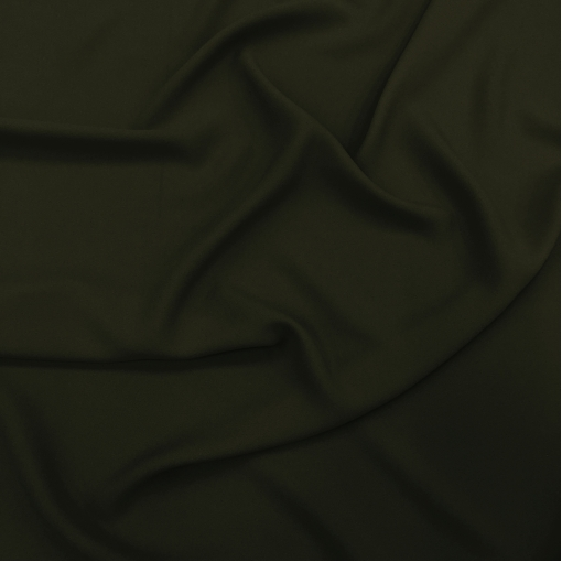Креп кади вискозный бутылочного зеленого цвета