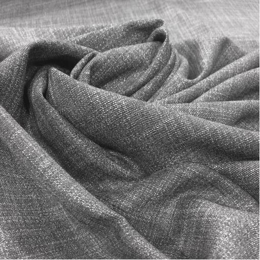 Ткань вискозная легкая стрейч костюмная Cerruti серый меланж