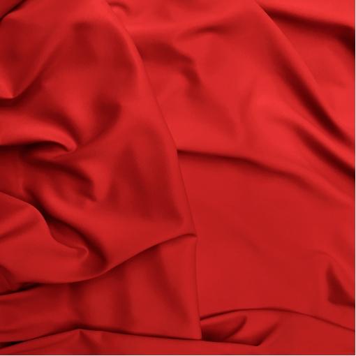 Кади вискозное атласное / креповое стрейч красного цвета