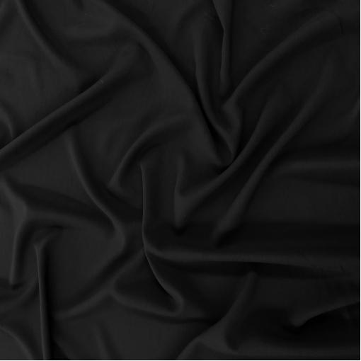 Креп кади вискозный стрейч черного цвета