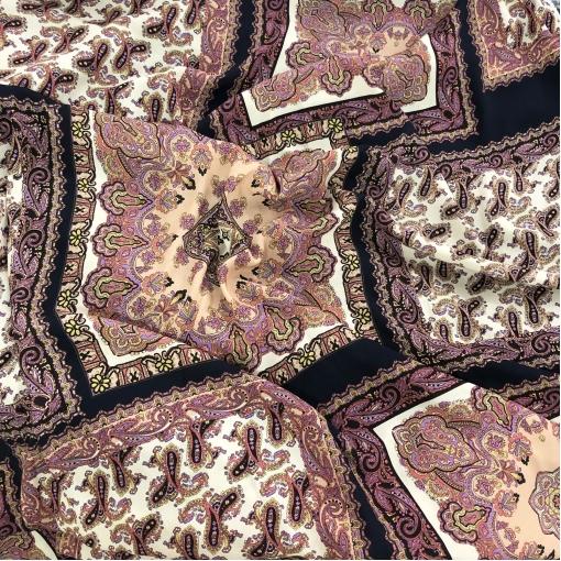 Вискоза плательная принт ETRO пэчворк платки в сиренево-баклажанных тонах