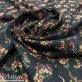 Вискоза мягкая плательная стрейч принт Prada бабушкин сундук на черном фоне