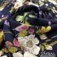 Вискоза мягкая плательная принт полевые цветы на темно-синем фоне