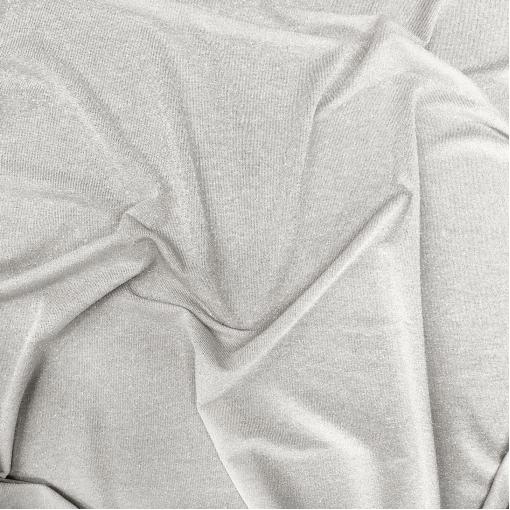 Трикотаж вискозный тонкий с нежным люрексом средне-серого цвета