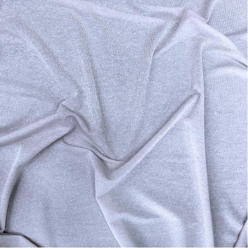 Трикотаж вискозный тонкий с нежным люрексом пыльно-фиалкового цвета
