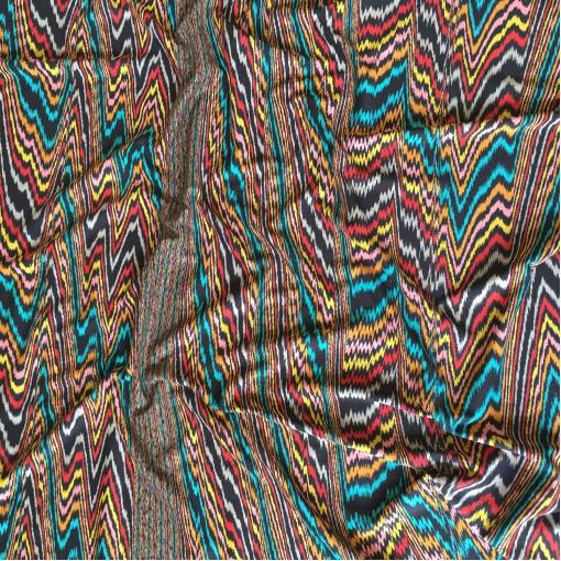 Трикотаж вискозный стрейч принт Missoni разноцветные зигзаги