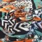Трикотаж вискозный сколький принт Missoni полосы букеты и зигзаги