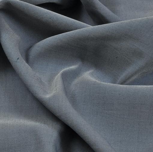 Шелк матовый серо-голубого цвета плательно-рубашечный