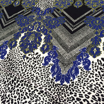 Джерси вискозное купон в синих тонах принт Elisa Fanti