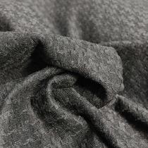 Джерси стрейч темно-серый жаккард гусиная лапка