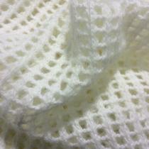 Трикотаж шерстяной ажурный белый
