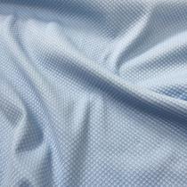 Хлопок костюмный пике принт Aspesi голубого цвета