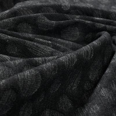 Жаккардовая джинса серого цвета в горох
