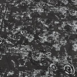 Жаккардовая джинса темно-серая с абстрактными розами