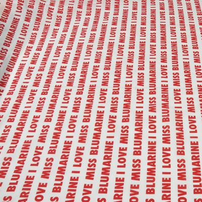 Хлопок стрейч красные надписи BLUMARINE