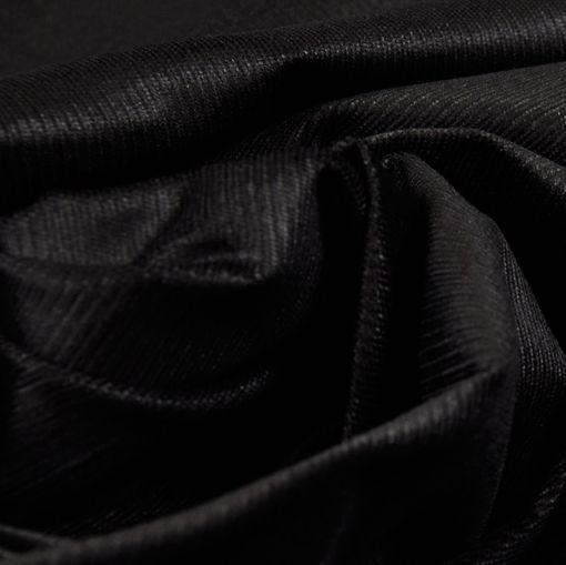 Вельвет стрейч мелкий рубчик черного цвета