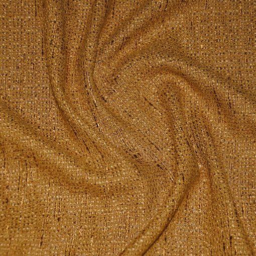 Шанель хлопковая золотисто-горчичного цвета