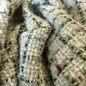 Шанель хлопковая костюмная оливково-зеленого тона
