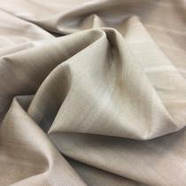 Ткань костюмная тонкая бежевая шерсть в полоску