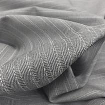 Ткань костюмная тонкая шерсть в полоску серо-розовая