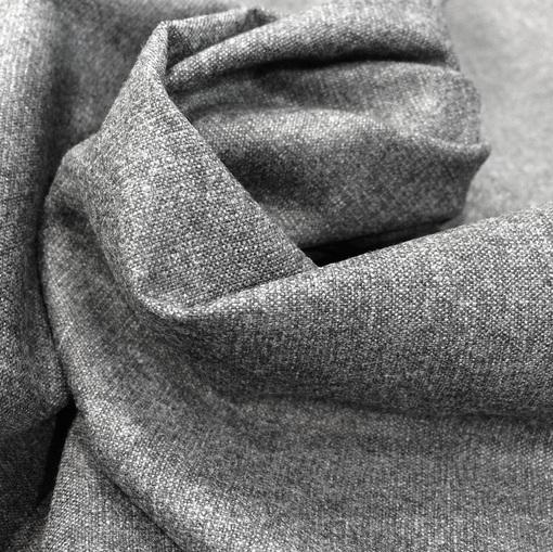 Ткань костюмная шерстяная фланель серого цвета