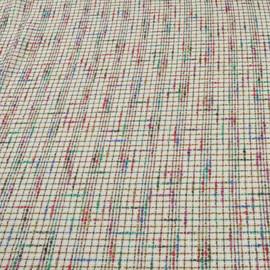 Хлопковая шанель цвета слоновой кости с пестрыми нитями