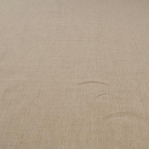 Костюмный лен стрейч натурального песочно-серого цвета