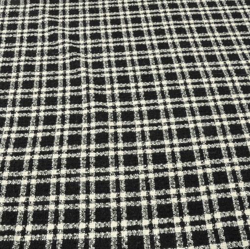 Шанель пальтовая в черно-белую клетку