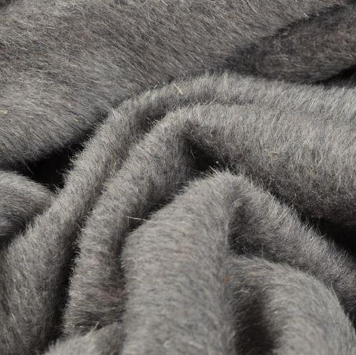 Пальтовая ворсовая ткань светло-серая с розоватым отливом