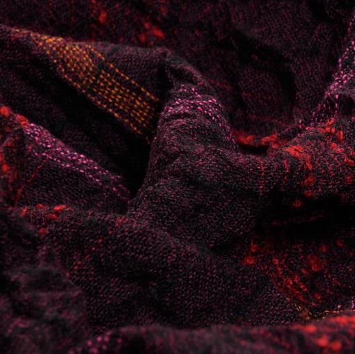 Шерсть креш темно-фиолетовая