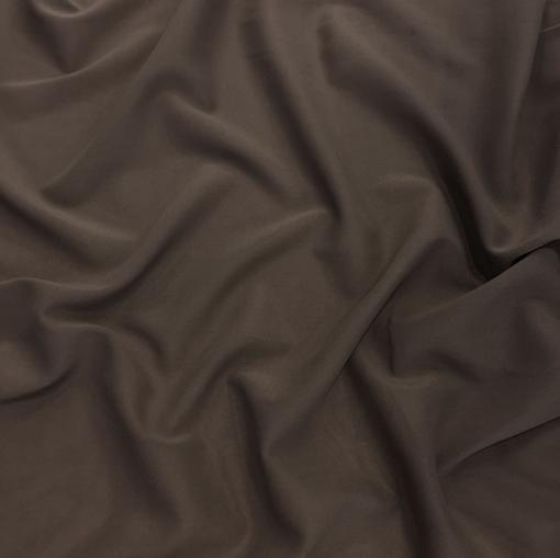 Шелк-шифон стрейч темный шоколад